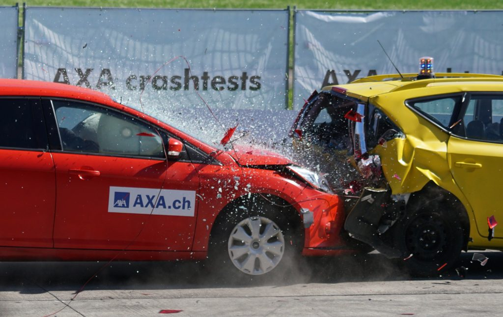 Crash testing cars